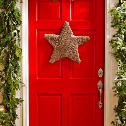 decorazioni natalizie porta ingresso idee per natale come fare decorazione stella per ingresso