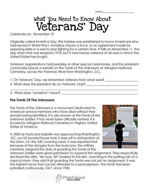 Veterans Day Worksheets by American Hist Patriotic Squarehead Teachers