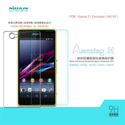 Sony Xperia Z1 Compact Mini Screen Guard Tempered Glass Protector Kaca nillkin amazing h tempered glass screen protector for sony