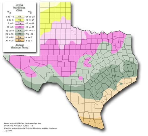 Zones For Gardening Map - plant hardiness zone map big country master gardeners
