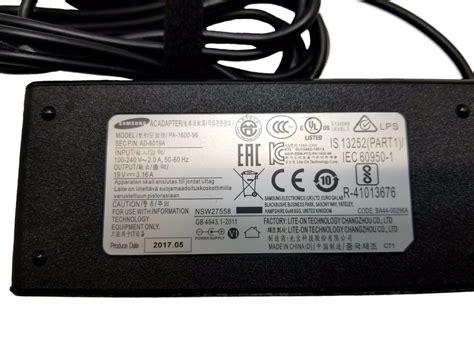 Samsung Original Adaptor 19v 3 16a original oem samsung ba44 00296a pa 1600 96 19v 3 16a