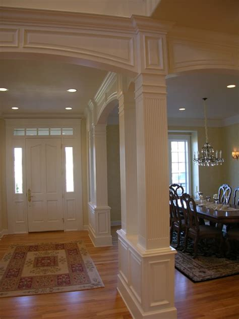 Houzz Dining Room Wainscoting Traditional Stair With Painted Wainscoting Traditional