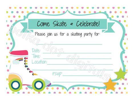 roller skate invitation template orax info