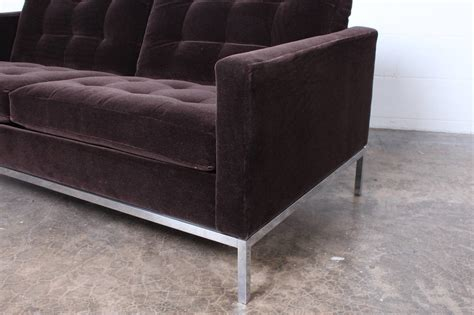 Knoll Settee Settee By Florence Knoll In Mohair At 1stdibs