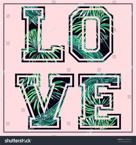 love fashion design print girl love vector fashion design floral tropical print for girl