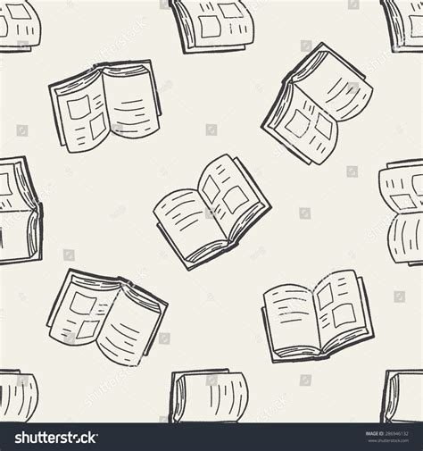 how to create a doodle book doodle book seamless pattern background stock vector