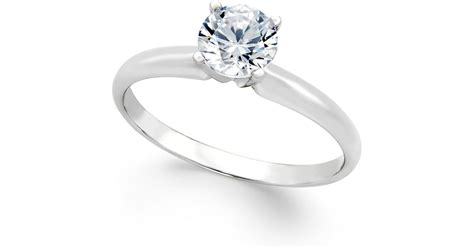 macy s certified engagement ring 3 4 ct t w in
