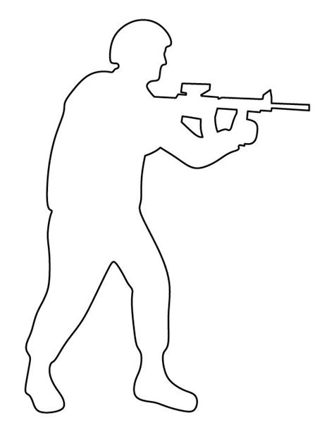 Soldier Drawing Outline soldier pattern use the printable outline for crafts creating stencils scrapbooking and more