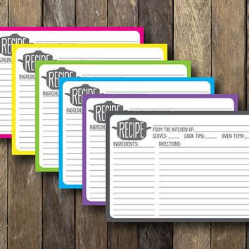 5x7 printable recipe cards printable 5x7 recipe cards instant from thelionandthelark on
