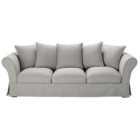 divano 5 posti divano grigio chiaro in cotone 4 5 posti roma maisons du