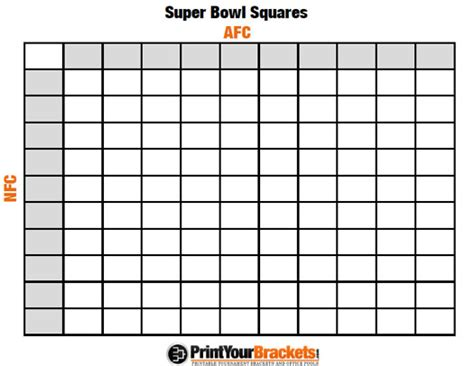 bowl squares template printable bowl squares 100 grid office pool nfl