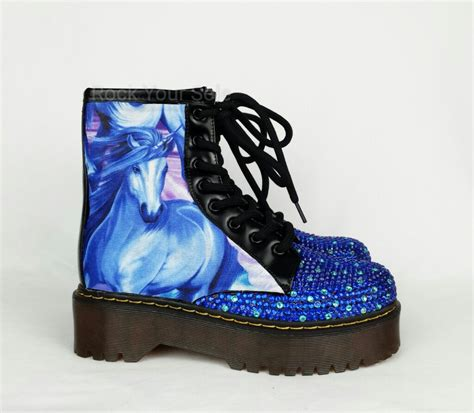 unicorn shoes unicorn shoes custom boots unicorn boots bling boots boho