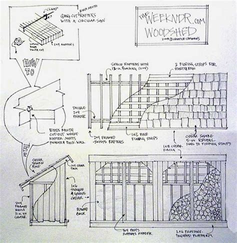 Free Firewood Shed Plans free diy wood storage shed plans woodproject