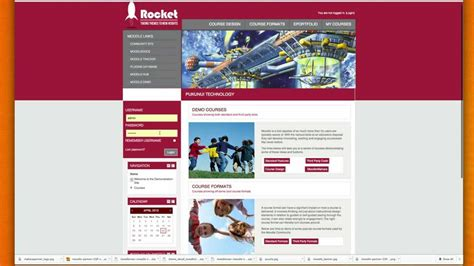 moodle theme red moodle 2 rocket theme demonstration youtube