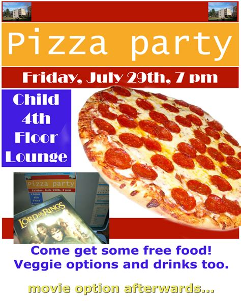 9 best images of free printable pizza party flyers free