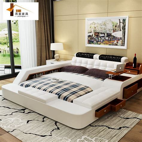 5 beds in one room bedroom furniture china leather bed tatami bed minimalist