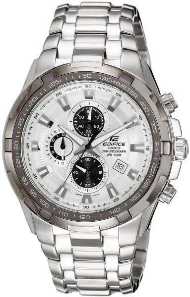 Casio Edifice Ef 539 Leather casio edifice s white chronograph stainless steel