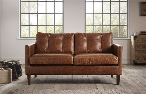 Small Sectional Leather Sofa Cromer Small Leather Sofa The Chesterfield Company