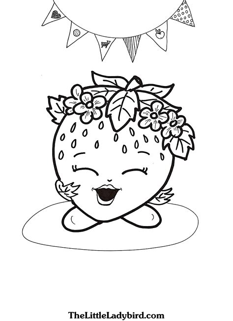 coloring sheets shopkins strawberry coloring pages collections 2 shopkins coloring pages