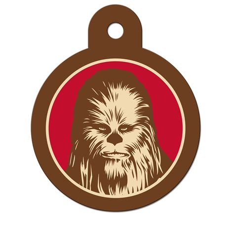 wars tags wars chewbacca engravable pet i d tag large petco