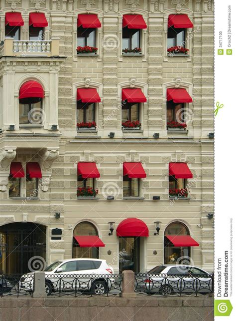 red awnings st petersburg house with red awnings stock photo image 34717100