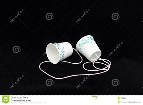 How To Make A Paper Cup Telephone - paper cup phone stock image image of transmit string