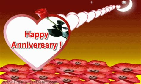 Happy Wedding Anniversary Animated Gif by Happy Anniversary Wishes Gif