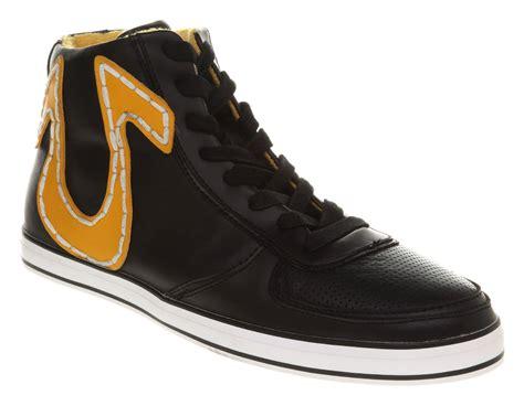 true religion shoes for mens true religion ace hi black yellow trainers shoes ebay