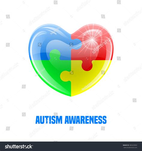 autism id card template autism awareness day card or poster template vector