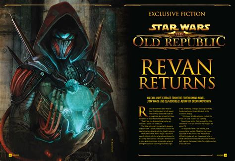Revan Wars The Republic revan excerpt available in wars insider issue 127