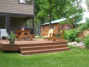 Deck Backyard Ideas Bloombety Cheap Backyard Deck Ideas With Green Cheap