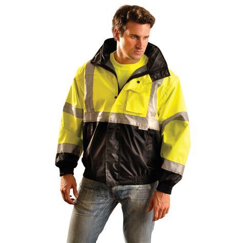 Premium Bomber Jacket 3 occunomix tjbj b class 3 premium 4 in 1 black bottom bomber jacket yellow black