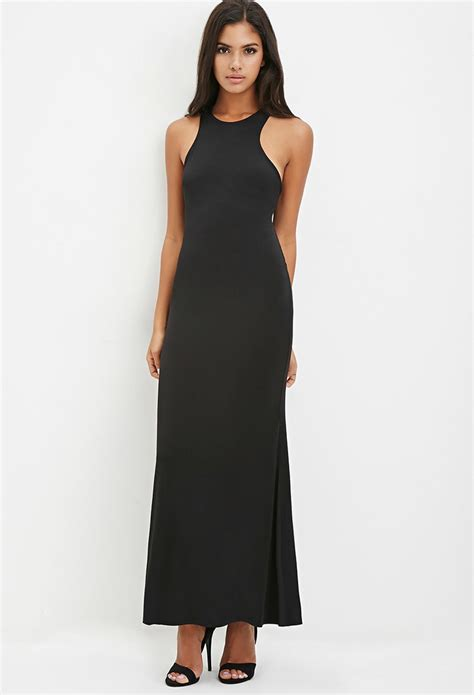 Maxi Modena Wash lyst forever 21 crisscross back bodycon maxi dress in black