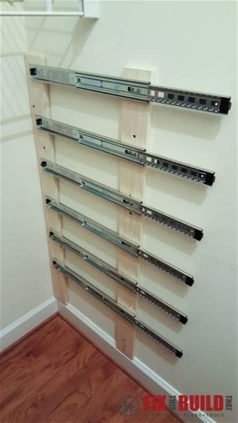 pull out closet creative ideas diy pull out wood crate storage to