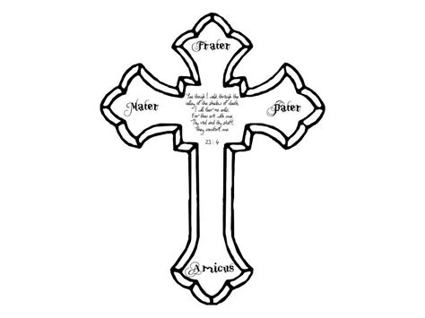 outline of cross tattoo cross outlines cross images designs