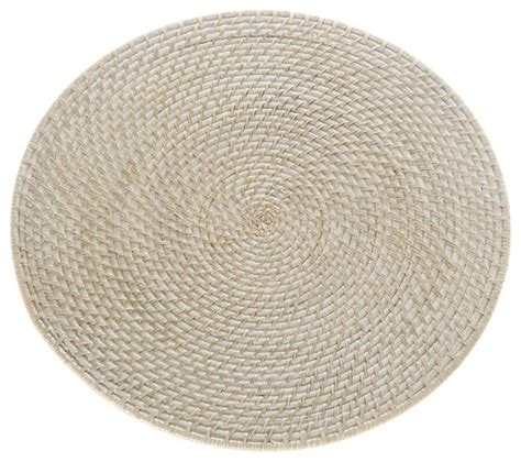 White Wash Table And Chairs by Laguna Round Rattan Placemat 15 Quot Diameter Honey Brown