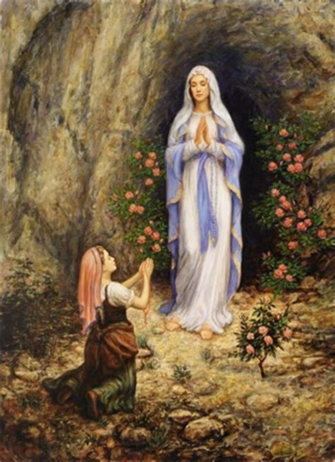 our lady of lourdes fine art print by edgar jerins at