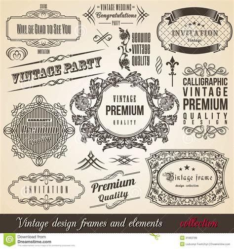 vintage design elements corners vector free calligraphic element border corner frame collectio stock