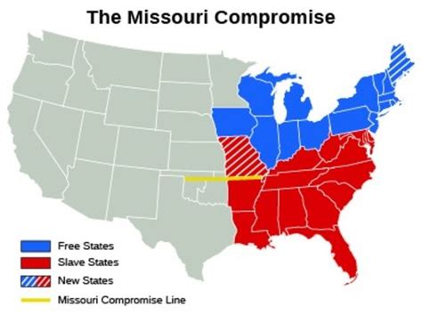 us map missouri compromise line causes of the american civil war timeline timetoast