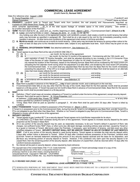 printable commercial lease agreement commercial lease agreement free printable documents