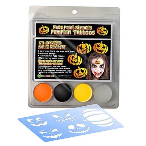 face paint stencil kit halloween pumpkin painting  kids
