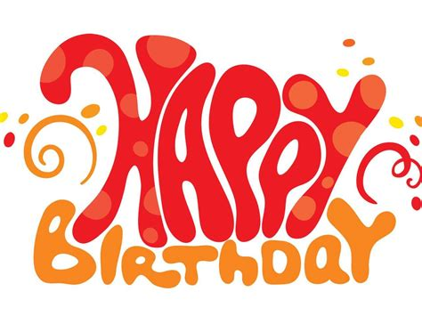 design letters of happy birthday happy birthday font letter design clipart best
