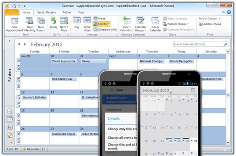 how to sync outlook calendar with android features android sync sync android with outlook via usb
