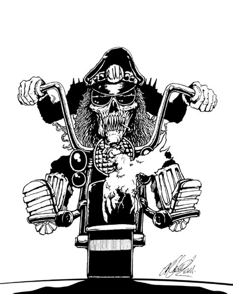 cowboy skull on bike tattoo design tattoos book 65 000