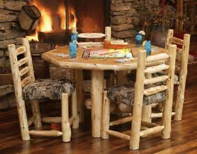 Log Kitchen Table And Chairs Impressive Log Cabin Floor Plan Designs Using Large