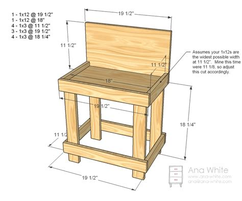 diy wooden bench plans ana white toy workbench diy projects