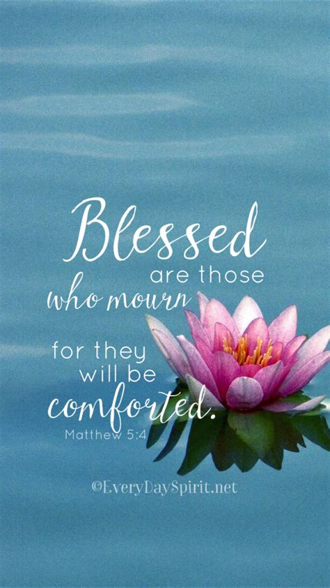 Bible Verses To Comfort Those Who Mourn by Matthew 5 4 Floral Scripture Grief Dr