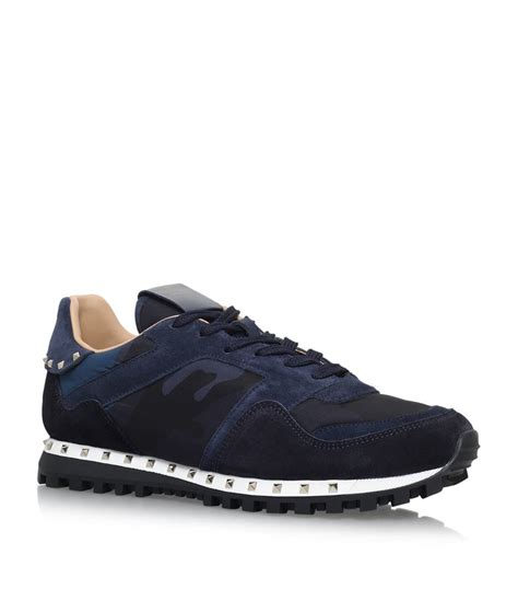 valentino sneakers mens valentino studsole sneakers in blue for lyst