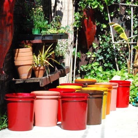 5 gallon container gardening spray painted 5 gallon buckets garden pots garden