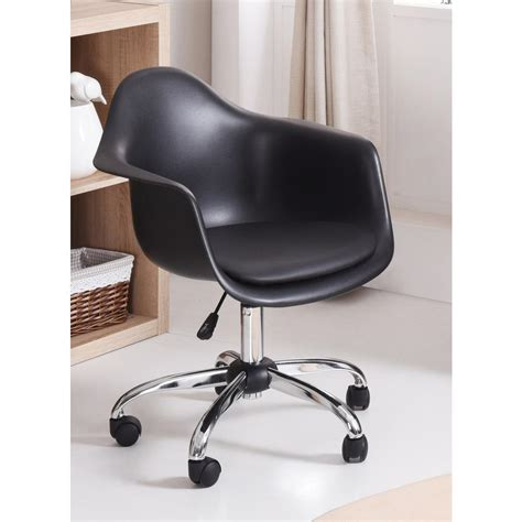 home depot desk chair hodedah adjustable black swivel office desk chair